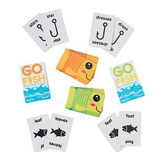 Regular & Irregular Plural Go Fish Game Sets