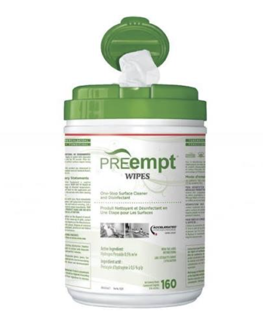 PREempt Wipes One-Step Surface Cleaner and Disinfectant (160 sheets)