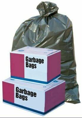 Garbage Bags 500/pk, BLACK, Regular (various sizes)