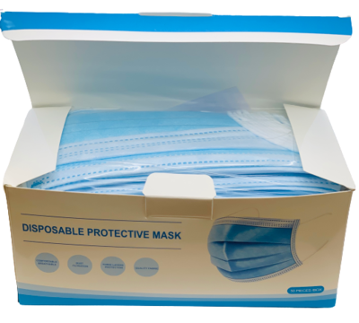 Blue Disposable PROTECTIVE MASKS with Earloop 10 or 50 Pack*