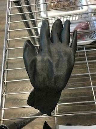 Black Nitrile Glove 12 Pairs 1/2 Coated Size L