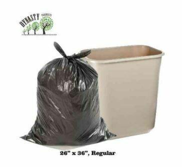"""Black Garbage Bags, 26"""" x 36"""", Regular, 250 pcs"""