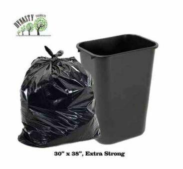 "Black Garbage Bags, 30"" x 38"", Ex-Strong, 100 pcs"