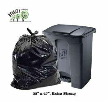 "Black Garbage Bags, 35"" x 47"", Ex-Strong, 100 pcs"