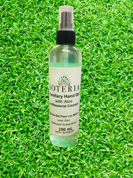 HAND SANITIZER SPRAY with Aloe 250mL by SOTERIA 70% ALCOHOL