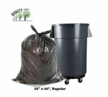 """Black Garbage Bags, 35"""" x 50"""", Regular, 250 pcs"""
