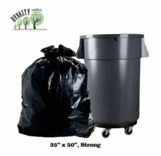"""Black Garbage Bags, 35"""" x 50"""", Strong, 200 pcs"""