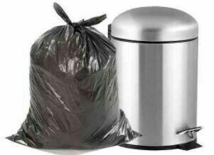 """Black Garbage Bags, 35"""" x 50"""", Strong, HDPE, 150pcs"""