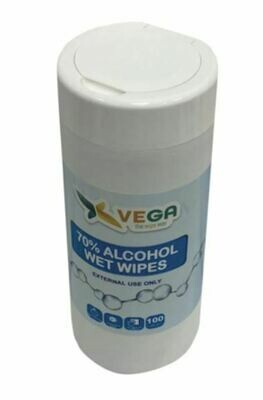 VEGA: General Cleaning And Surface Disinfecting Wet Wipes With 70% Alcohol - 100 Wipes