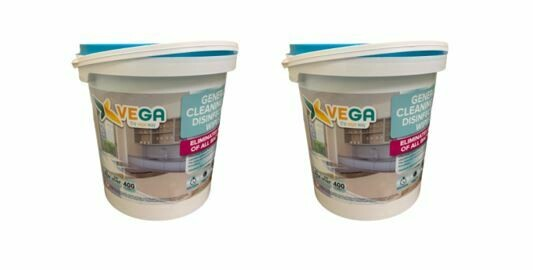 Vega All Purpose Cleaning and Disinfecting Wipes, 400/tub, 2 Tubs
