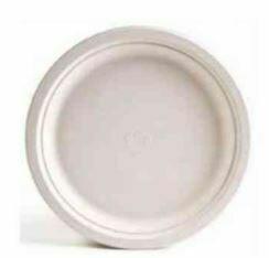 "Sugarcane Plates, Round, 6"", 125pcs x 8/cs"