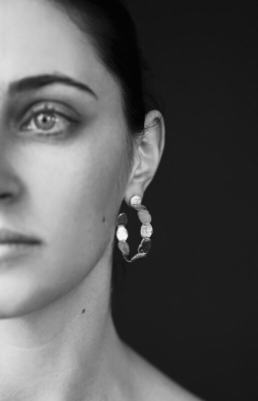 stone circle earrings