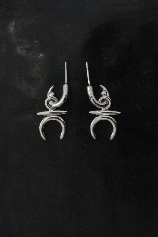 baby moonmen earrings