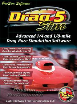 DragSim5 1/8 & 1/4 Mile Drag-Race Simulation (Ship)