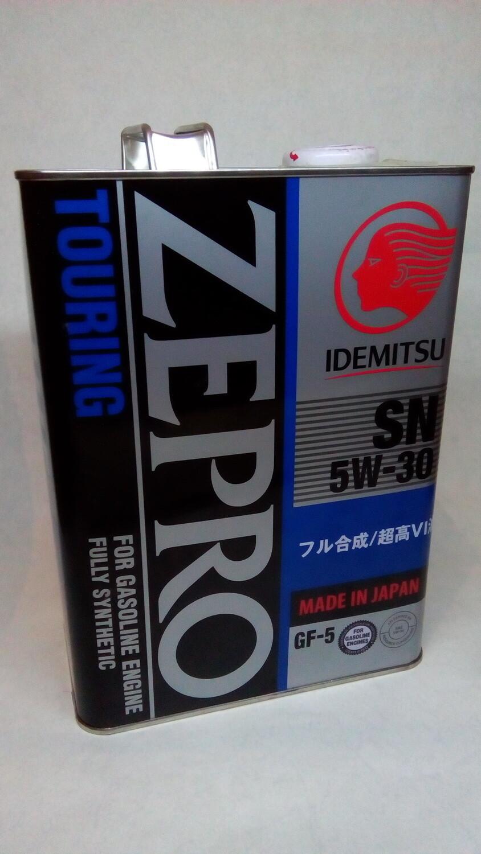 "Масло моторное синтетическое ""Zepro Touring 5W-30"", 4л"