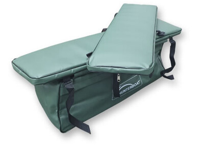 Комплект мягких накладок с сумкой на лодку Хантер 290 ЛКА зеленый