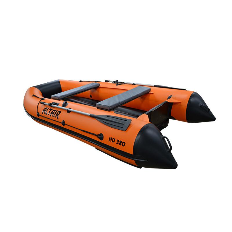 Моторная надувная лодка ПВХ HD 380 НДНД оранж.