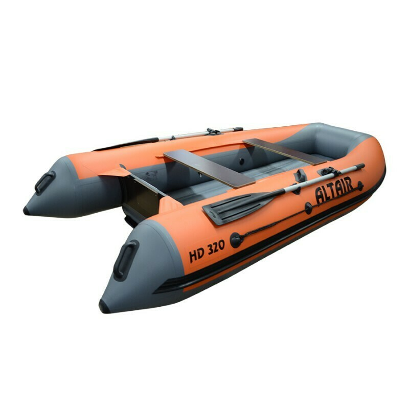 Моторная надувная лодка ПВХ HD 320 НДНД оранж