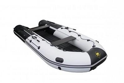 """Надувная лодка Ривьера 4000 НДНД ГИДРОЛЫЖА """"Комби"""" светло-серый/черный"""