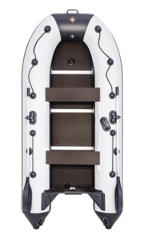 """Лодка Ривьера Компакт 3200 СК """"Касатка"""" светло-серый/черный"""