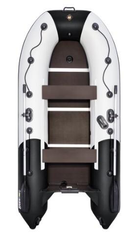 """Лодка Ривьера Компакт 3200 СК """"Комби"""" светло-серый/черный"""