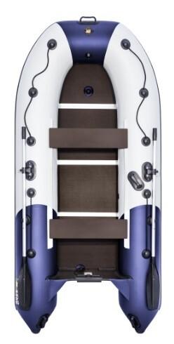 """Лодка Ривьера Компакт 3200 СК """"Комби"""" светло-серый/синий"""