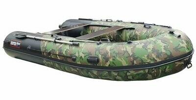 Лодка Хантер 350 ПРО камуфляж ХАКИ НАТО