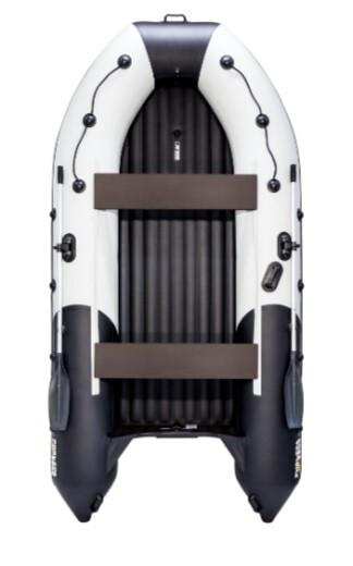 """Надувная лодка Ривьера 3600 Килевое надувное дно """"Комби"""" светло-серый/черный"""
