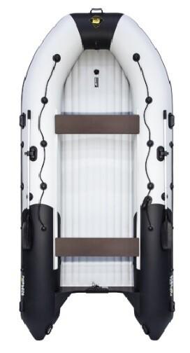 """Лодка Ривьера 4300 Килевое надувное дно """"Комби"""" светло-серый/черный"""