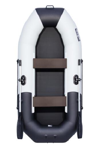 """Надувная лодка Таймень NX 270 """"Комби"""" светло-серый/черный"""