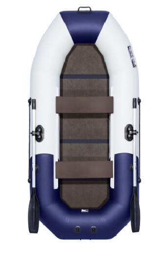 """Лодка Таймень NX 270 С """"Комби"""" светло-серый/синий"""