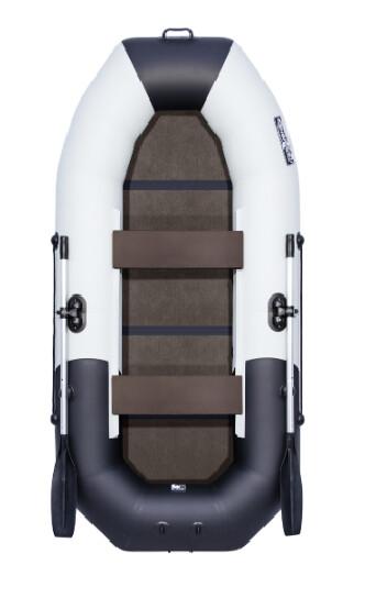 """Лодка Таймень NX 270 С """"Комби"""" светло-серый/черный"""