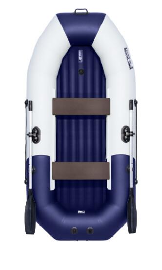 """Лодка Таймень NX 270 НД """"Комби"""" светло-серый/синий"""