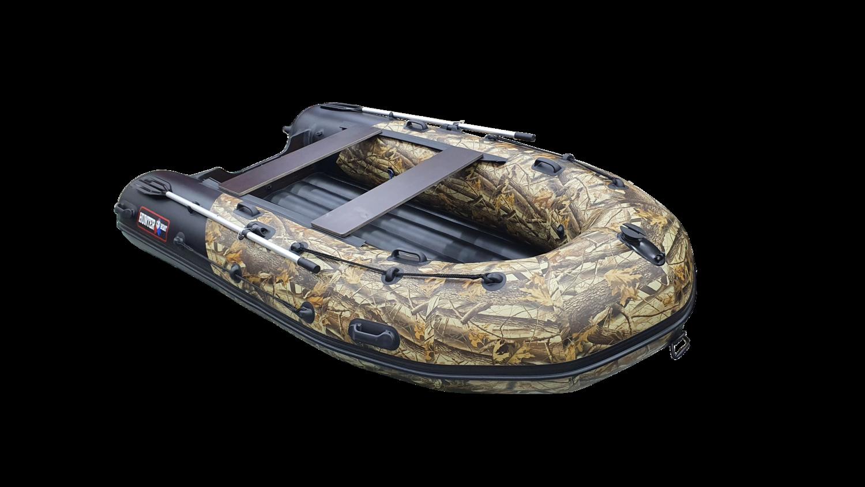 Лодка Хантер 350 ПРО камуфляж ЛЕС