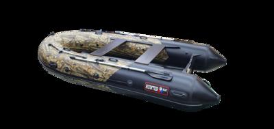 Надувная лодка Хантер 380 ПРО камуфляж ЛЕС