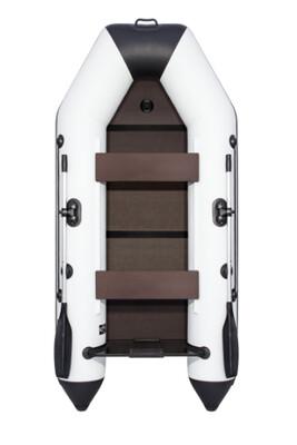 Лодка АКВА 2800 Слань-книжка киль Светло-серый/черный