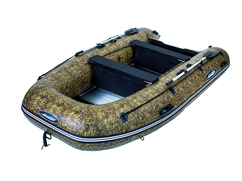 Надувная моторная лодка из ПВХ Gladiator HD 370 AL CAMO