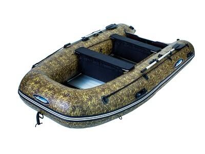 Надувная моторная лодка из ПВХ Gladiator HD 390 AL CAMO
