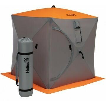Палатка зимняя Куб 1,5х1,5 orange lumi/gray Helios (HS-ISC-150OLG)
