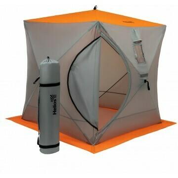 Палатка зимняя Куб 1,8х1,8 orange lumi/gray Helios (HS-ISC-180OLG)