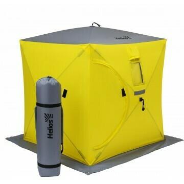 Палатка зимняя Куб 1,8х1,8 yellow/gray Helios (HS-ISC-180YG)