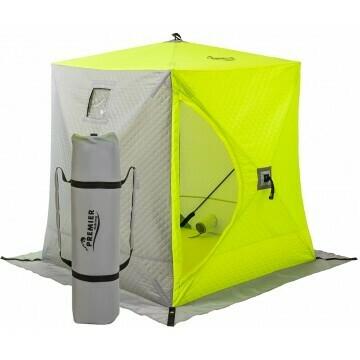 Палатка зимняя Куб утепл. 1,8х1,8 yellow lumi/gray PREMIER (PR-ISCI-180YLG)