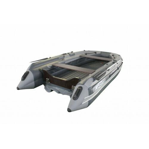Лодка надувная SKAT TRITON 390NDFi с интегрированным фальшбортом и пластиковым транцем