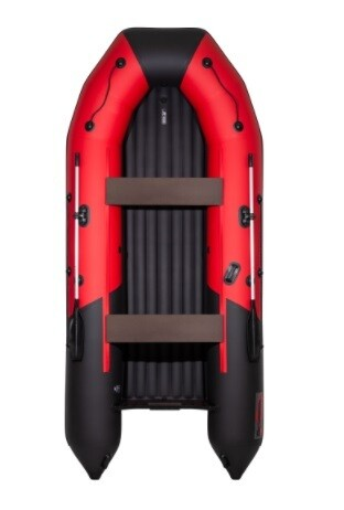 Лодка Таймень NX 4000 НДНД PRO красный/черный