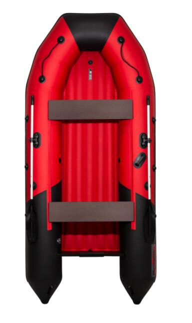 Лодка Таймень NX 3600 НДНД PRO красный/черный