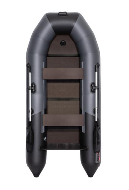 """Лодка Таймень NX 2850 Слань-книжка киль """"Комби"""" графит/черный"""