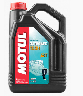 Масло для лодочных моторов 2T Motul Outboard Tech 1 л
