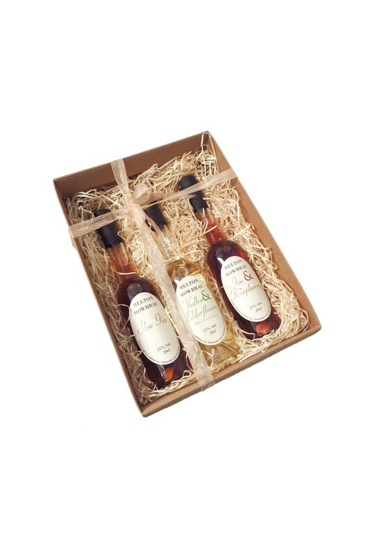 3 Bottle Kraft Gift Set Box