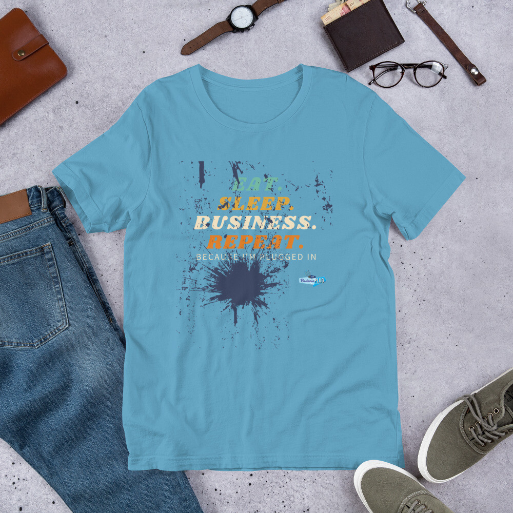 Eat Sleep Business Repeat Short-Sleeve Unisex T-Shirt