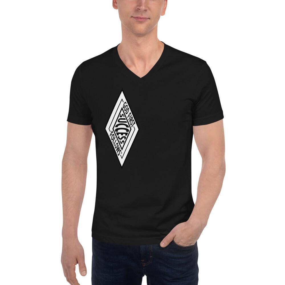 SUCCESS BRAND Unisex Short Sleeve V-Neck T-Shirt